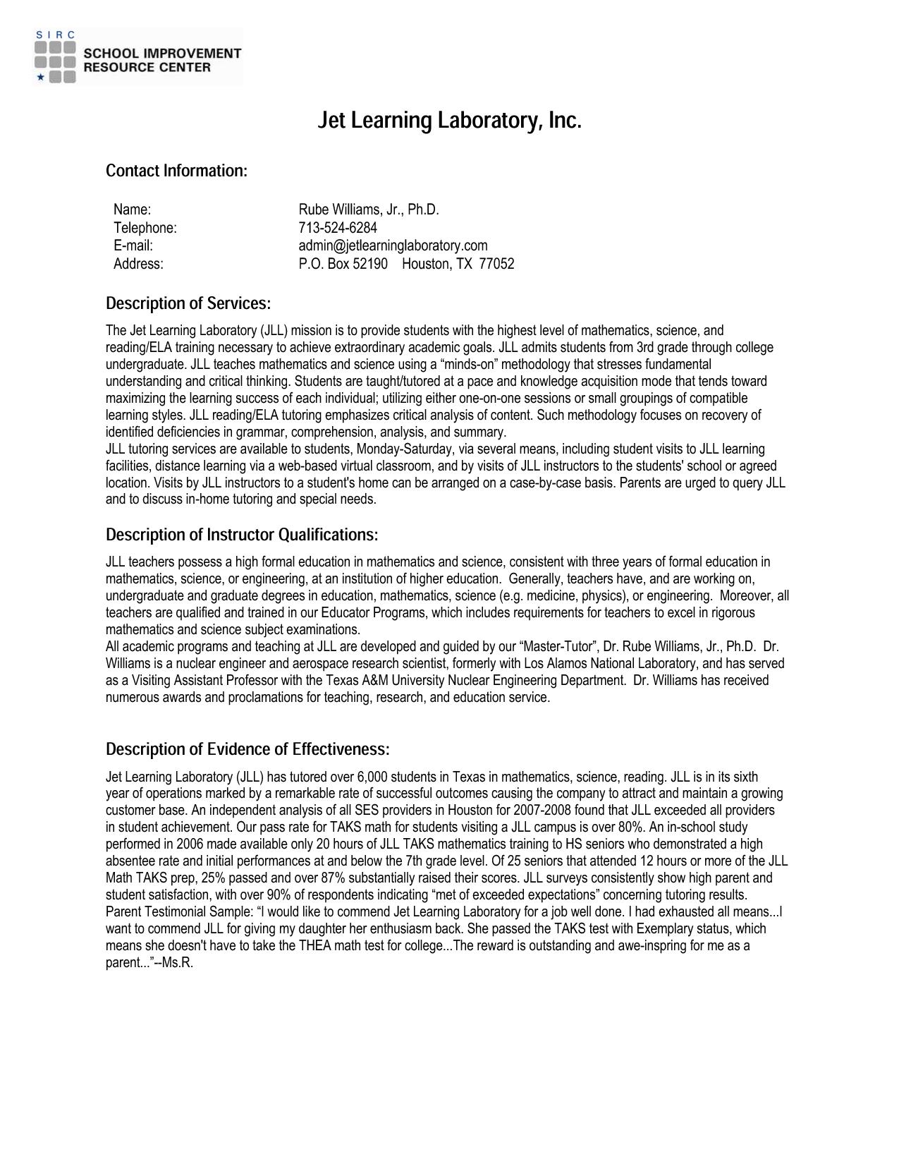 Resume Testimonials Samples