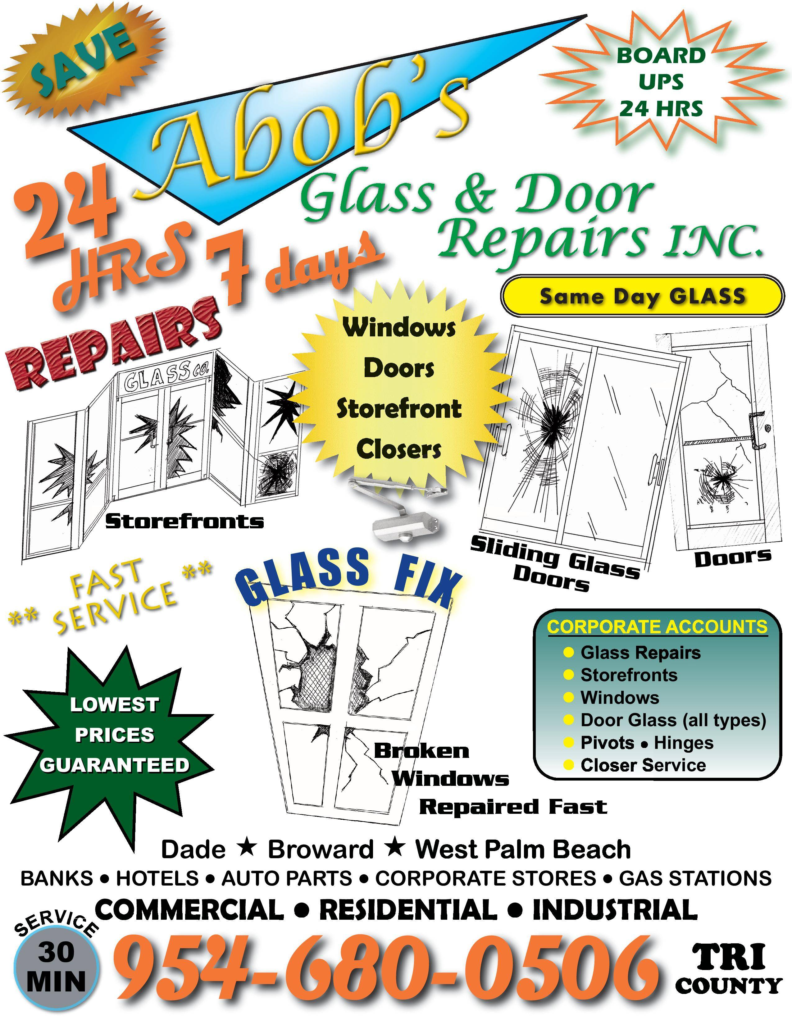Abobs Glass Door Repairslayout 1 Pdf Page 001 A Bobs Glass Repair